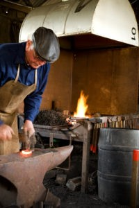 Blacksmith hard at work (2) 2007
